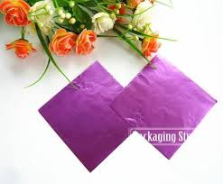 foil wrapping paper 10 10cm purple aluminum foil wrapping paper for chocolate candy