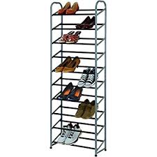 30 pair shoe cabinet amazon com amazonbasics 50 pair shoe rack home kitchen