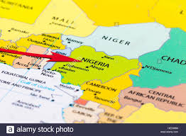 Nigeria On World Map by Nigeria Map Stock Photos U0026 Nigeria Map Stock Images Alamy