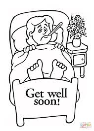 classy get well coloring pages feel better coloring pages feel