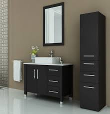 40 Bathroom Vanities Avola 40 Inch Vessel Sink Bathroom Vanity Espresso Finish