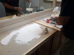 Best Creating A New Bathroom Vanity Countertop  And  Images - New bathroom vanity 2