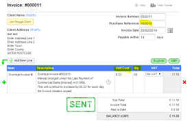 late payment for invoices accounting quickfile