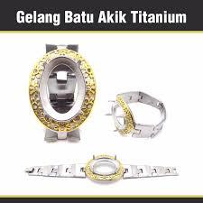 gelang batu akik titanium elevenia