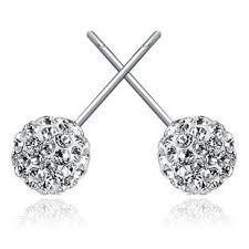cheap diamond earrings 925 sterling silver earrings wholesale women korean