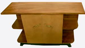 french art deco bar sideboard leather shagreen omero home