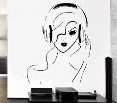 popular sexy wall large sticker buy cheap sexy wall large sticker new 2015 music vinyl wall decal headphone music sexy girl cool decor rock pop for bedroom