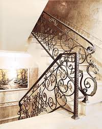 Fer Forge Stairs Design Wrought Iron Handrail Gallery