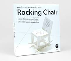 Rocking The Chair Good Morning Inc Rocking Chair Paper Craft Calendar At