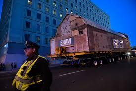 photos historic 150 ton kirkland museum moves to new location