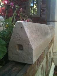 garden folly building double weathered wall capping stones