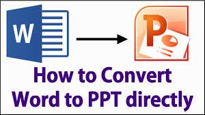 design von powerpoint in word how to convert microsoft word to power point presentation youtube
