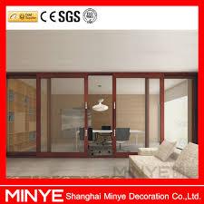 wooden glass sliding doors soundproof interior sliding door soundproof interior sliding door