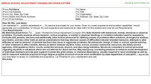 adjustment counselor cover letter