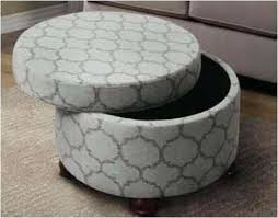 Round Cocktail Ottoman Upholstered by Ottoman Round Fabric Ottoman Round Banana Leaf Ottoman 1 Round