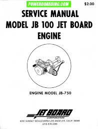 jet board engine manual
