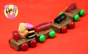 make candy tiny teddy train chocolate polar express for