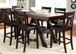 Black Square Dining Room Table Black Square Tempered Glass Top Counter Height Dining Table By