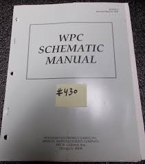 wpc pinball machine game schematic manual 430 for sale williams