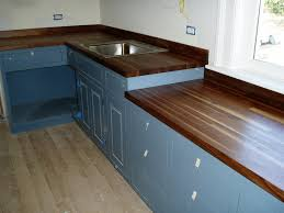 countertops blue cabinets 30 edge grain walnut butcherblock