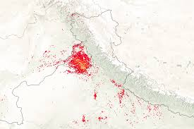 Punjab India Map by A Stream Of Smoke In Northern India Image Of The Day
