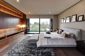 Large Modern Area Rugs Bedroom Interesting Large Modern Open Bedroom Design Using Brown