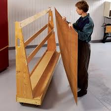 Wood Storage Rack Plans by Roll Around Plywood Cart Woodworking Plan From Wood Magazine