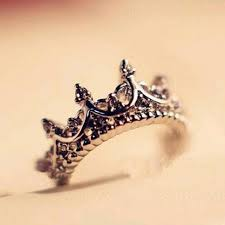 korean wedding rings korean style retro drill hollow crown shaped