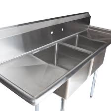 Stainless Steel Double Sink Kitchen Stainless Steel Kitchen Sinks With Drainboards