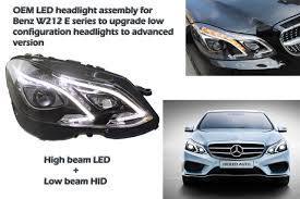 mercedes headlights for mercedes benz w212 e class led headlight assembly to upgrade low