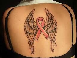 cancer ribbon tattoos with wings creativefan