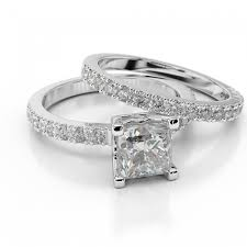 engagement rings sets swarovski pb wedding bridal set princess premier 1