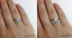 solitaire engagement ring with wedding band wedding rings wedding band that fits around engagement ring
