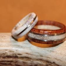 Deer Antler Wedding Rings by Best Wood And Antler Rings Products On Wanelo