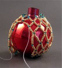 free pattern easy beaded ornament cover featured in bead