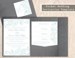 diy pocket invitations pocket wedding invitation template set diy instant