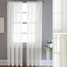 Voiles For Patio Doors by Pintuck Sheer Voile Curtain Panels
