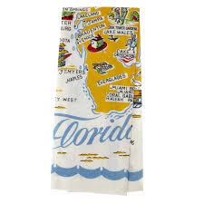 kitchen towel designs florida souvenir state map kitchen towel dish cloths