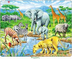 Stencil Giganti by Puzzle Per Bambini Animali Della Savana Cm 36x28 65 Pezzi