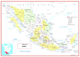 Coahuila Mexico Map by Detailed Map Of Mexico States In Map Of Mexico Detailed