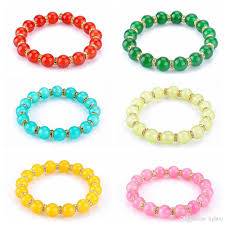 colored bead bracelet images 2018 new summer style artificial agate beads bracelet women jpg