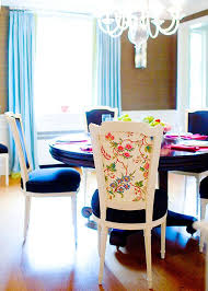 Printed Dining Chairs Dining Room Gallery Of Black And White Floral Chairs Dinner Set