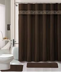 Blue And Brown Bathroom Sets Amazon Com 15 Pc Brown U0026 Blue Memory Foam Bathroom Set Soft Mat W