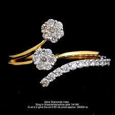 light diamond rings images Ladies light weight diamond rings manufacturer supplier in meerut jpg