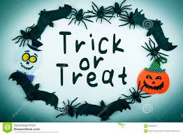 trick or treat halloween background halloween trick or treat background with spiders bats pumpkin and