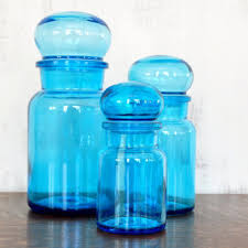 blue kitchen canister blue glass kitchen canisters martha stewart collection kitchen