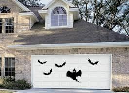 halloween garage door decor haunted house removable wall decal