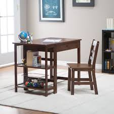 classic playtime espresso student desk with optional shelves