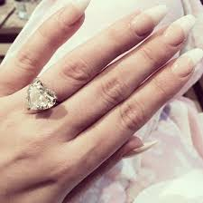 Heart Shaped Wedding Rings by Lady Gaga U0027s 6 Carat Heart Shaped Diamond Ring The Engagement