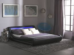 platform bed with led lights platform bed led lights 140 x 200 faux leather black avignon